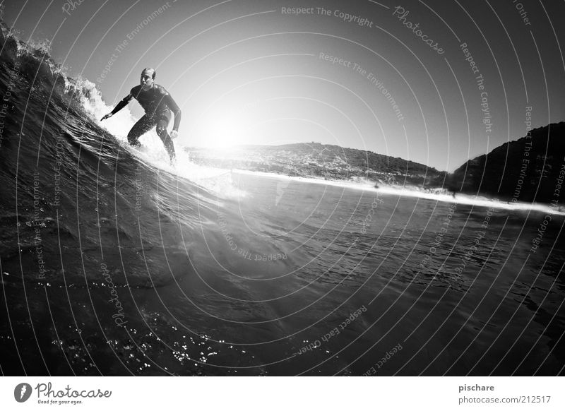 ...surfing! Lifestyle Aquatics Masculine Young man Youth (Young adults) Water Summer Waves Coast Ocean Sports Esthetic Athletic Exceptional Cool (slang) Healthy