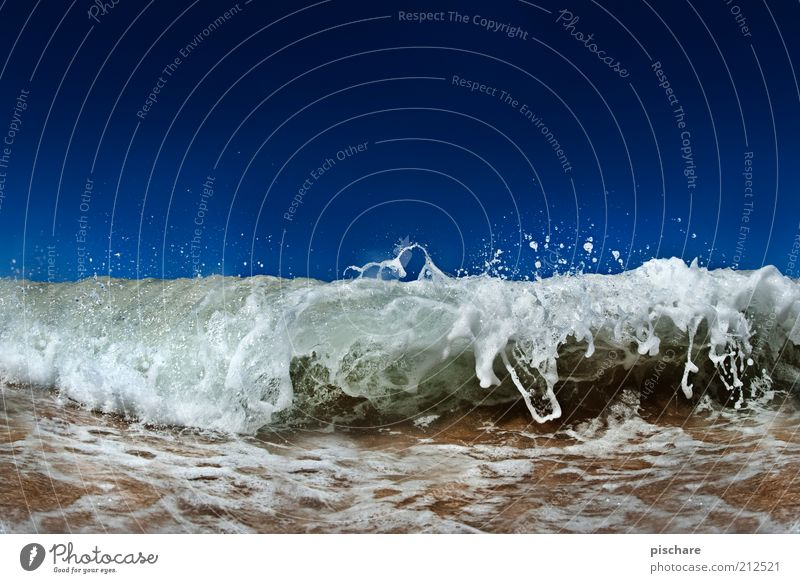 Nature Water Beautiful Ocean Blue Summer Movement Power Coast Waves Wet Drops of water Esthetic Exceptional Elements Beautiful weather