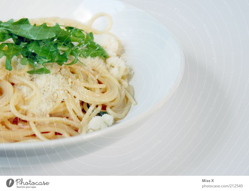 Recommended: Spaghetti Serrano&Rucola in Parmesan Cream Sauce Food Lettuce Salad Nutrition Lunch Dinner Organic produce Slow food Italian Food Plate Delicious