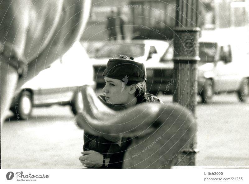 Paris Girl Woman Well Hat Black & white photo