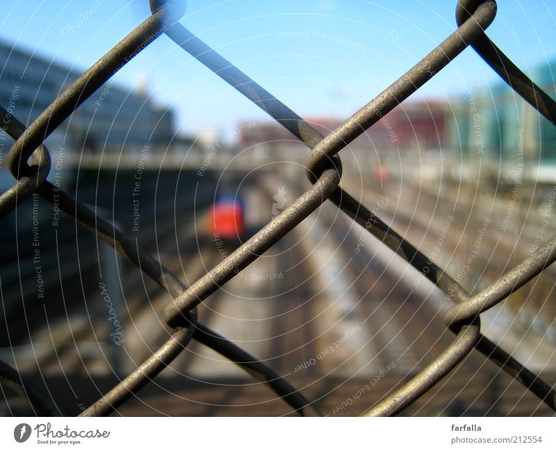 City Time Railroad Speed Hope Bridge Logistics Railroad tracks Train station Traffic infrastructure Fence Barrier Passenger traffic Platform Loop