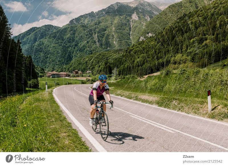 FAST TOP Leisure and hobbies Vacation & Travel Trip Adventure Summer vacation Mountain Sports Cycling Young woman Youth (Young adults) 18 - 30 years Adults