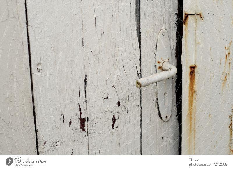 Old White Metal Door Open Broken Change Transience Mysterious Curiosity Gate Rust Historic Door handle Flake off Exciting