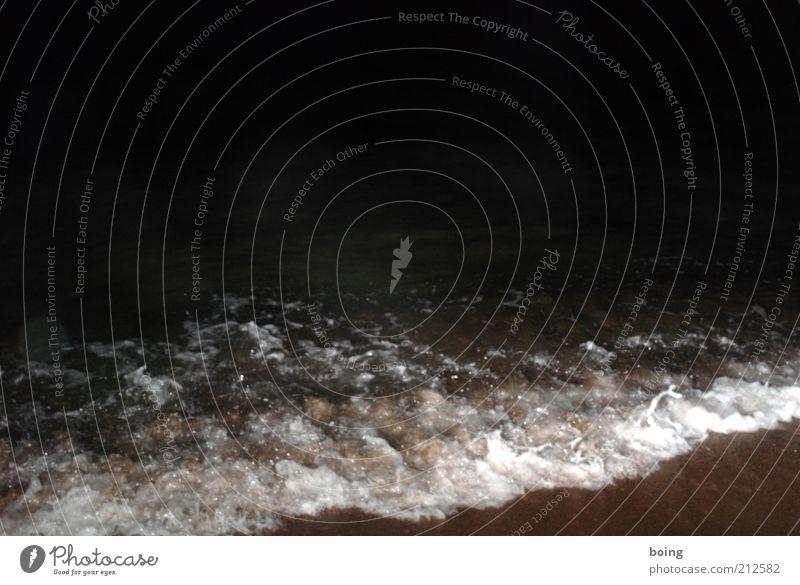 Ocean Beach Dark Coast Waves Night sky Surf White crest Water Night