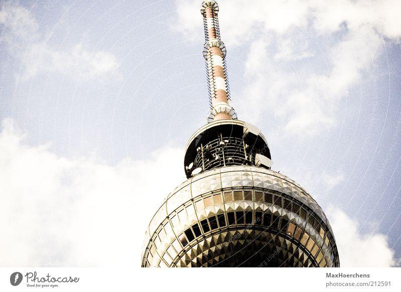 Sky Clouds Berlin Germany Europe Tower Point Landmark Downtown Berlin Berlin TV Tower Television tower Tourist Attraction Alexanderplatz Reflection