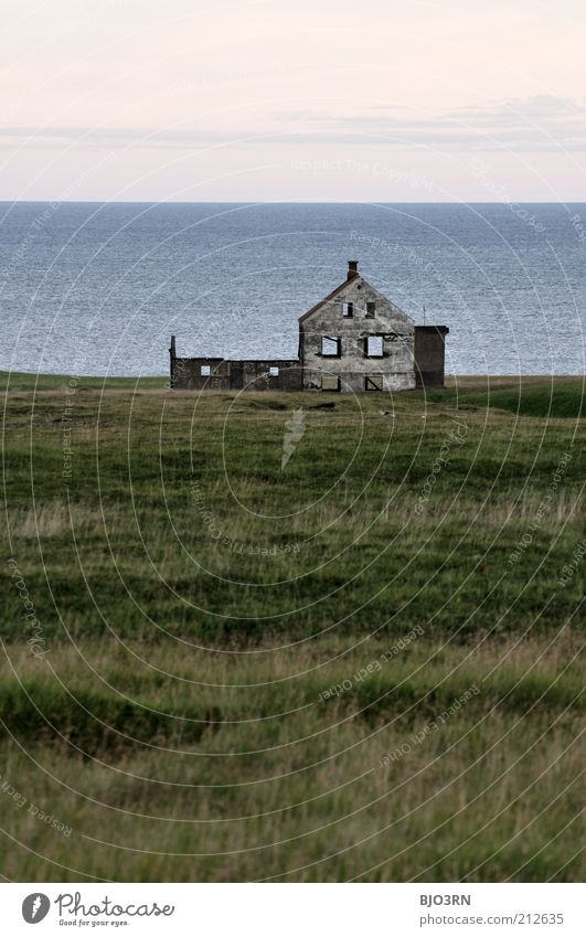 What is home? | Iceland Landscape Water Sky Pasture Coast Ocean Snæfellsnes Village House (Residential Structure) Ruin Building Window Front side Decline