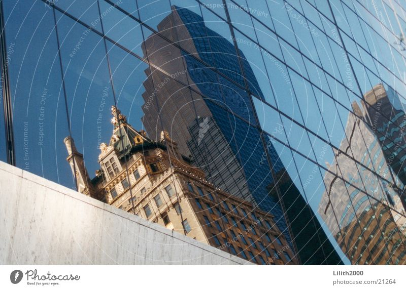 Window Architecture Mirror New York City Manhattan