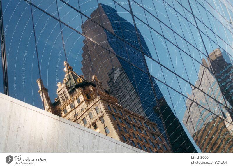 Window Architecture Mirror New York City Manhattan