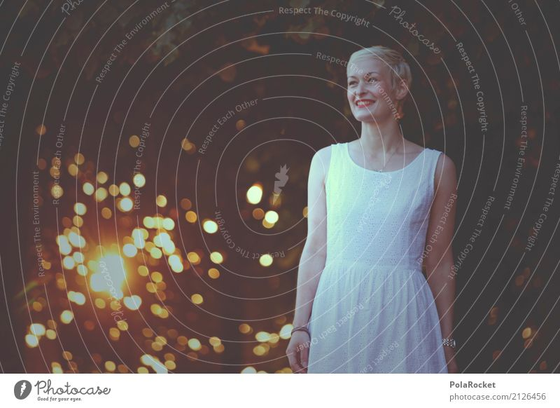 #A# morning glow 1 Human being Esthetic Happiness Model Manikin Dress White Laughter Smiling Woman Young woman To go for a walk Calm Leisure and hobbies Summer