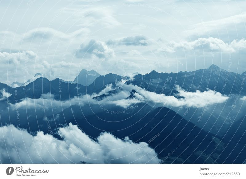 Sky White Blue Vacation & Travel Clouds Far-off places Mountain Happy Power Tall Vantage point Climate Alps Infinity Peak Beautiful weather