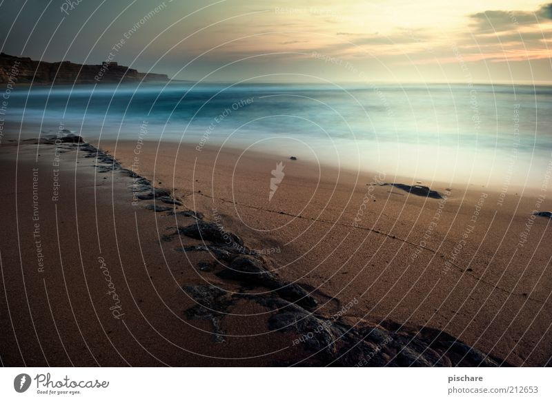 Nature Water Sky Sun Ocean Summer Beach Calm Far-off places Stone Sand Coast Horizon Esthetic Romance Exceptional