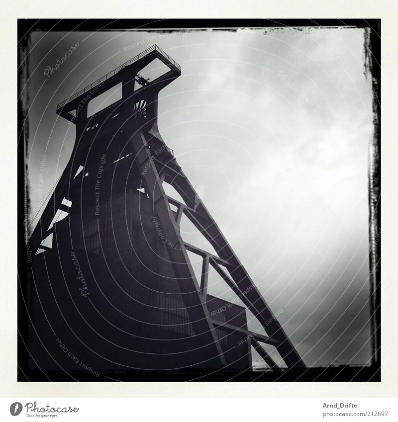 Zollverein Colliery Technology Energy industry Coal power station Industry Culture Environment Sky Clouds Weather Bad weather Rain Industrial plant