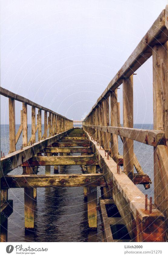 Water Ocean Beach Wood Horizon Footbridge Baltic Sea