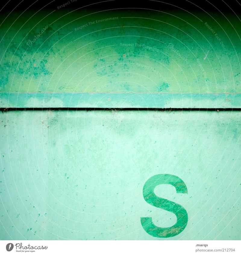 Green Colour Wall (building) Wall (barrier) Line Metal Lifestyle Characters Simple Uniqueness Sign Decline Color gradient