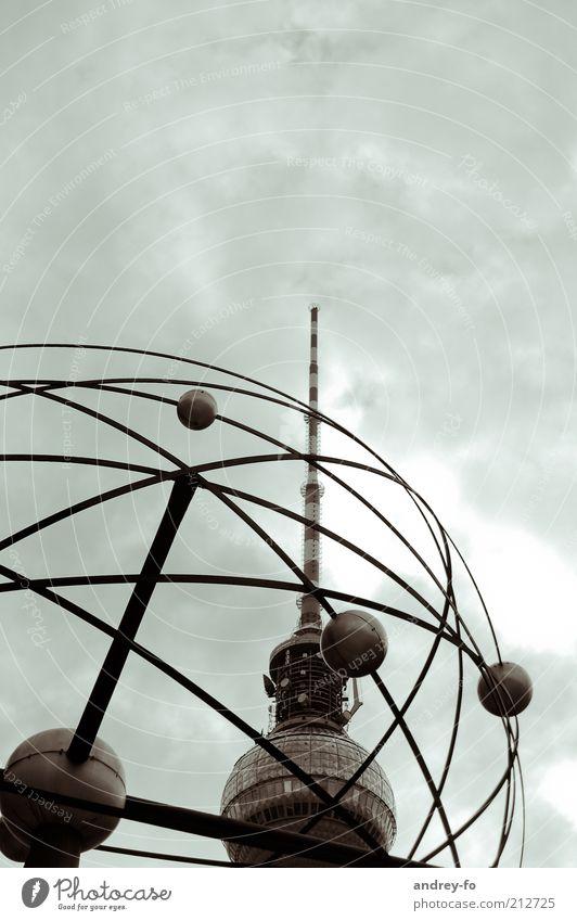 Sky Berlin Architecture Metal Tall Large Tower Sphere Landmark Upward Vertical Capital city Tourist Attraction Berlin TV Tower Antenna