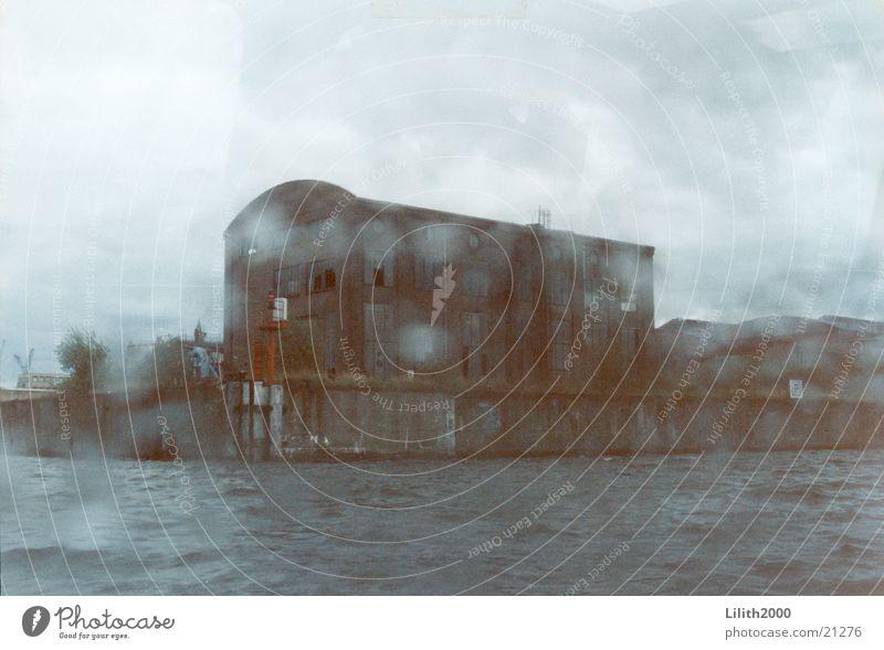Water Rain Drops of water Hamburg Europe Harbour Crane Dock
