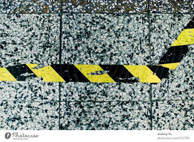 White Black Yellow Gray Stone Concrete Signs and labeling Transport Industry Technology Logistics Ground Stripe Tile Airport