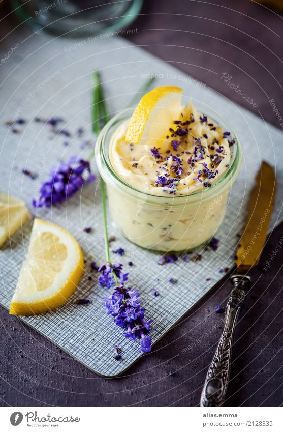 Lavender-Lemon Butter Food Healthy Eating Dish Food photograph Barbecue (event) BBQ Fresh Delicious Self-made Cooking spread Violet Aromatic To enjoy recipe