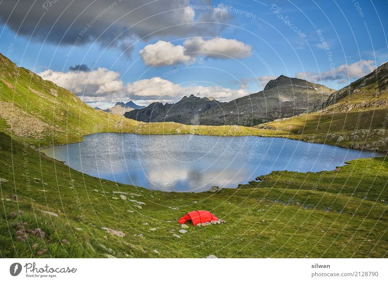 Blue Summer Green Landscape Calm Mountain Black Natural Exceptional Freedom Lake Rock Leisure and hobbies Hiking Glittering
