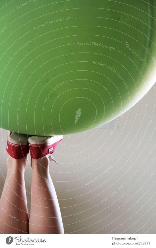 Human being Green Legs Footwear Sports Round Balloon Fitness Balance Sneakers Sports Training Harmonious Chucks Anonymous Gymnastics