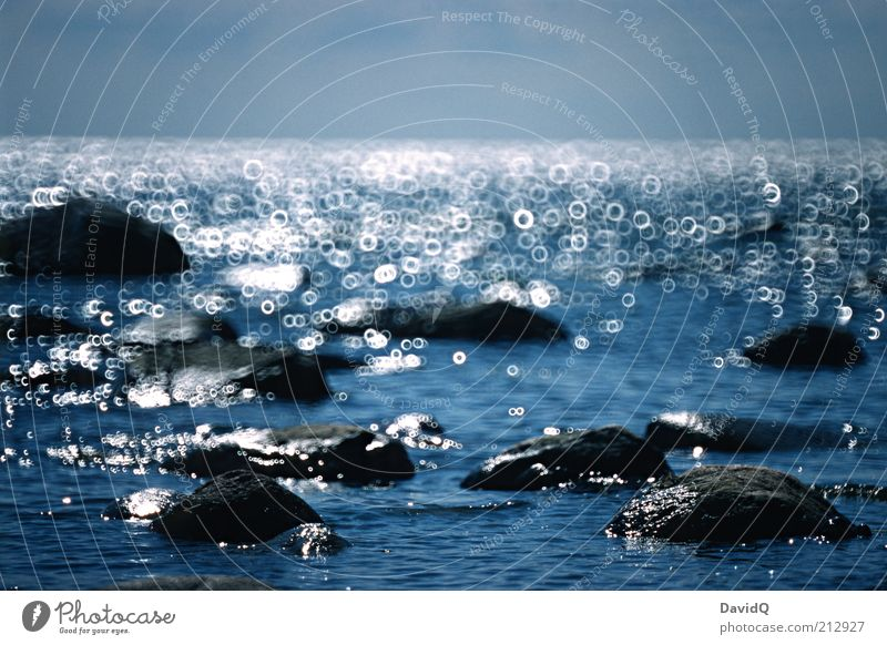 Nature Water Sky Ocean Stone Coast Environment Horizon Rock Circle Baltic Sea Structures and shapes Objective Catadioptric system (effect)