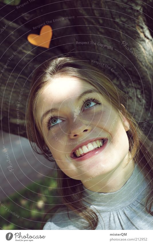 Woman Youth (Young adults) Beautiful Joy Face Love Playing Emotions Young woman Laughter 18 - 30 years Natural Heart Esthetic Smiling Teeth