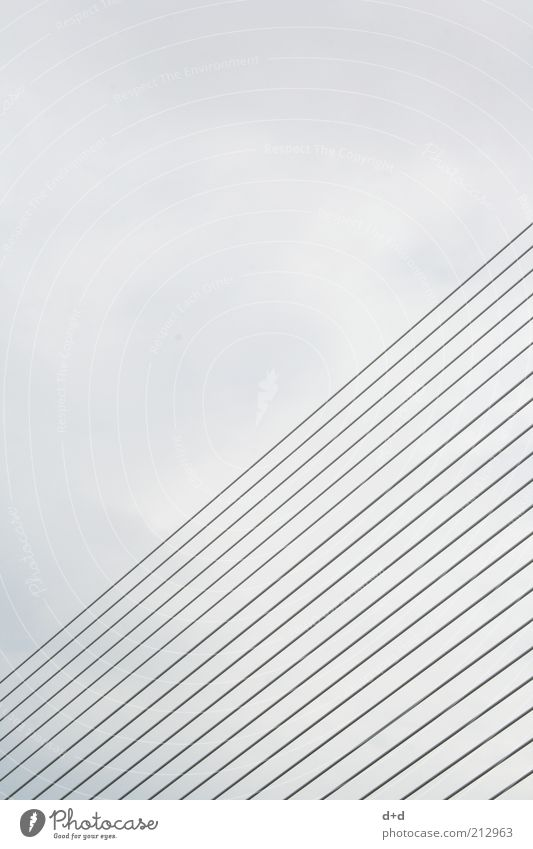 Sky Architecture Gray Style Line Design Modern Bridge Gloomy Stripe Spain Parallel Iron Grating Futurism