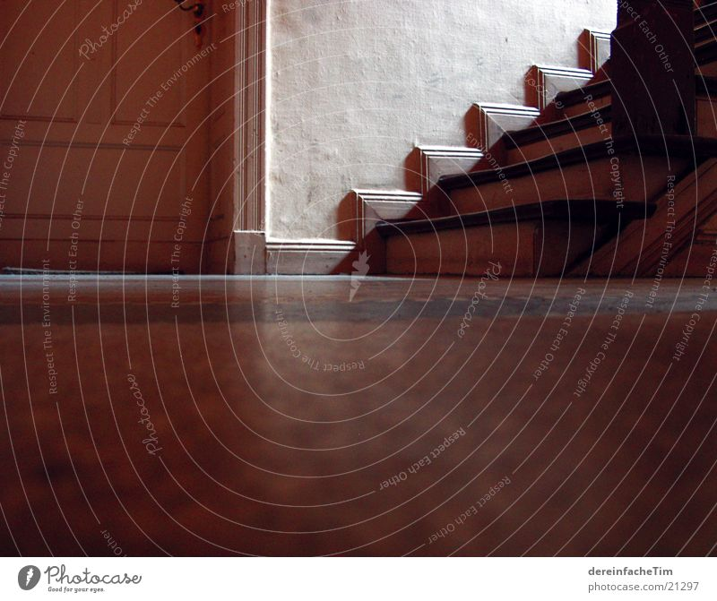 staircase House (Residential Structure) Hallway Old building Wood Architecture Stairs Floor covering