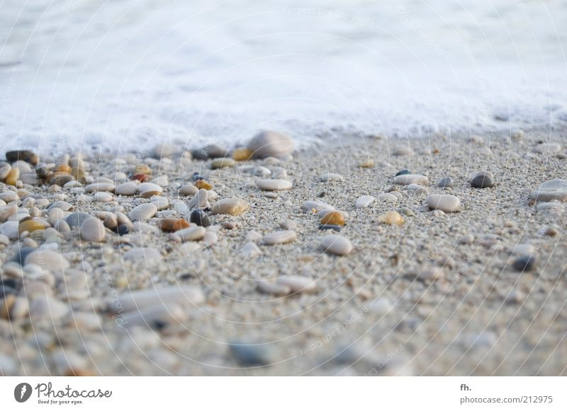 Nature Water Ocean Beach Vacation & Travel Calm Stone Sand Landscape Contentment Moody Coast Waves Wind Wet Break