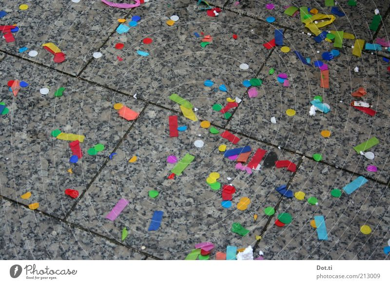 Stone Feasts & Celebrations Background picture Paper Floor covering New Year's Eve Carnival Event Sidewalk Chaos Remainder Multicoloured Seam Confetti Granite Paving tiles