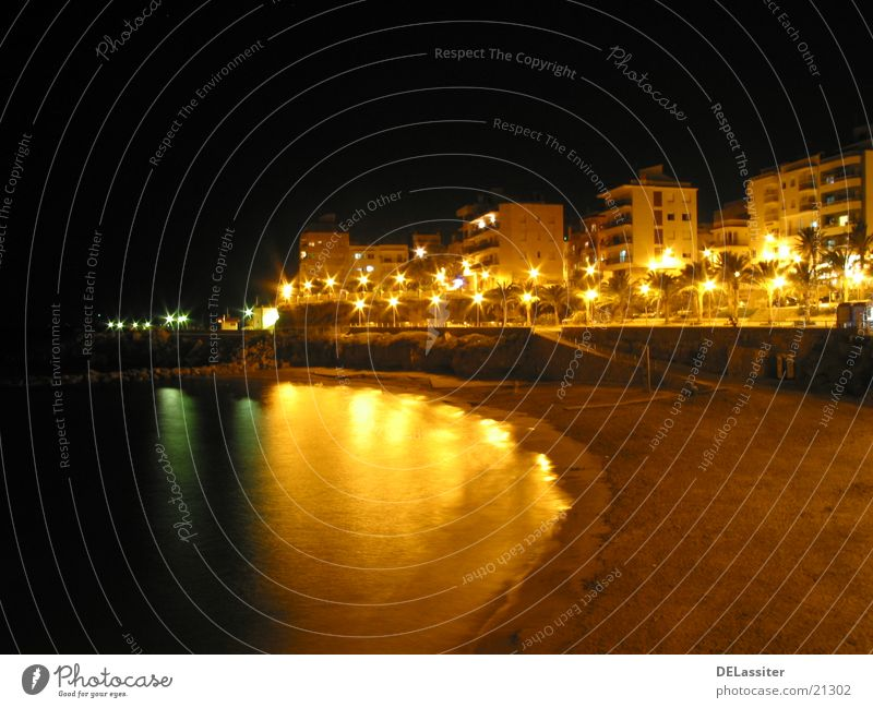 Spanish Evening Night Beach High-rise Spain reflection L'Ametlla de Mar