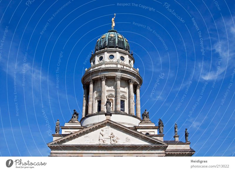 French Cathedral Sculpture Berlin Germany Capital city Old town Deserted Dome Manmade structures Architecture Facade Roof Tourist Attraction Landmark Monument