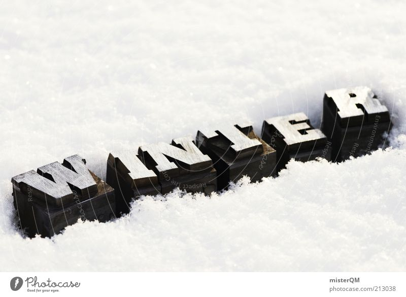 W.I.N.T.E.R. Winter Snow Snow layer Letters (alphabet) Seasons Cold December White Weather Frost Colour photo Subdued colour Exterior shot Close-up Detail