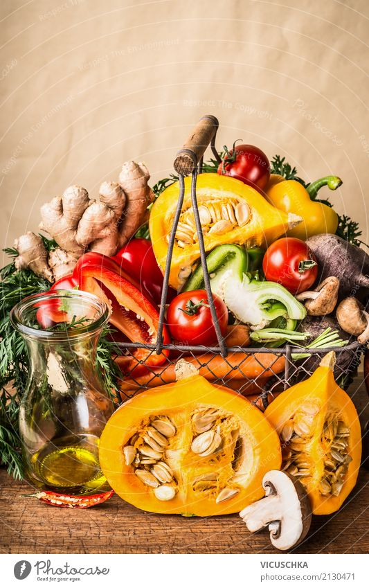 Healthy Eating Food photograph Yellow Background picture Style Design Nutrition Joie de vivre (Vitality) Table Shopping Vegetable Organic produce Inspiration