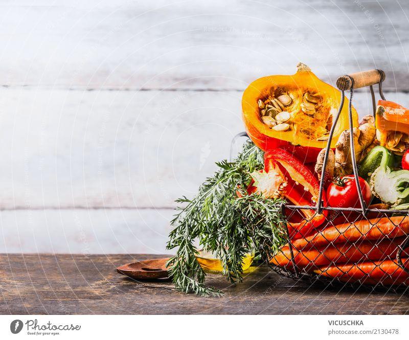 Various autumn seasonal organic vegetables in basket Food Vegetable Nutrition Organic produce Vegetarian diet Diet Shopping Style Design Healthy Healthy Eating