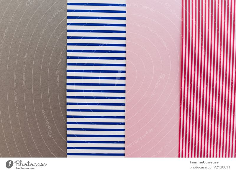 Sample (05) Paper Piece of paper Multicoloured Gray Blue White Blue-white Pink Reddish white Graphic Geometry Rectangle Structures and shapes Striped Design