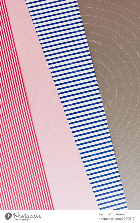 Sample (04) Paper Piece of paper Multicoloured Rectangle Triangle Structures and shapes Graphic Geometry Craft materials Cardboard Blue-white Reddish white