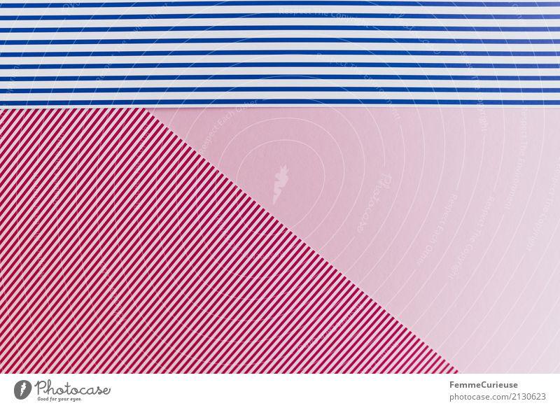 Blue White Red Pink Paper Stripe Striped Blue-white Reddish white