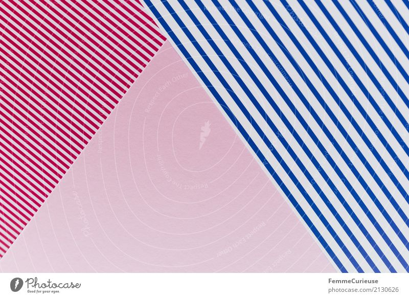 Sample (08) Paper Piece of paper Multicoloured Reddish white White Blue-white Pink Graphic Triangle Rectangle Geometry Design Structures and shapes
