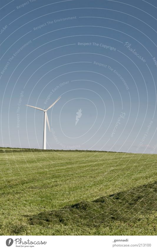 calm, also called calm Environment Nature Landscape Earth Air Sky Cloudless sky Horizon Summer Beautiful weather Grass Calm Wind Electricity generating station