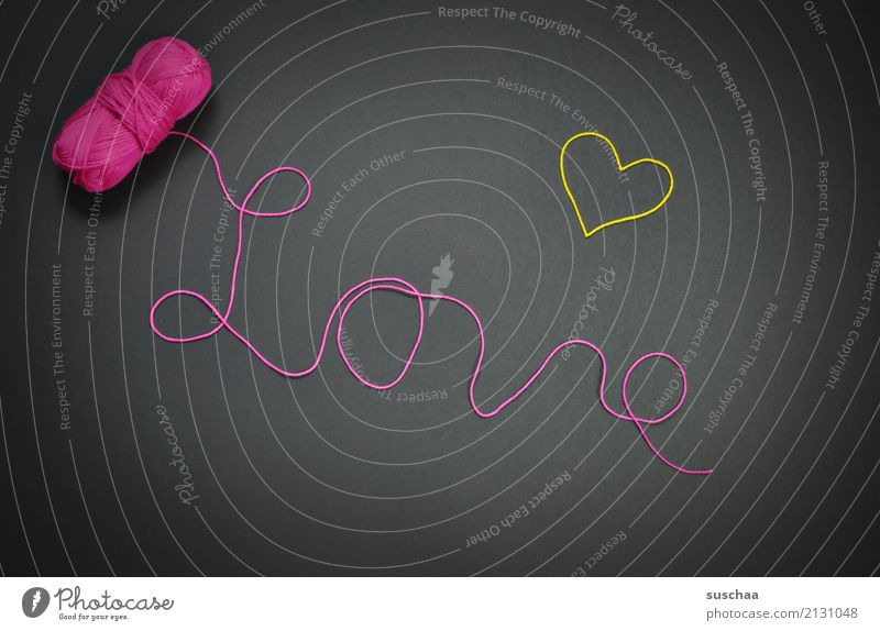 love Wool Ball of wool wool thread Word writing Handwriting Letters (alphabet) Love Heart Symbols and metaphors symbol of love Display of affection