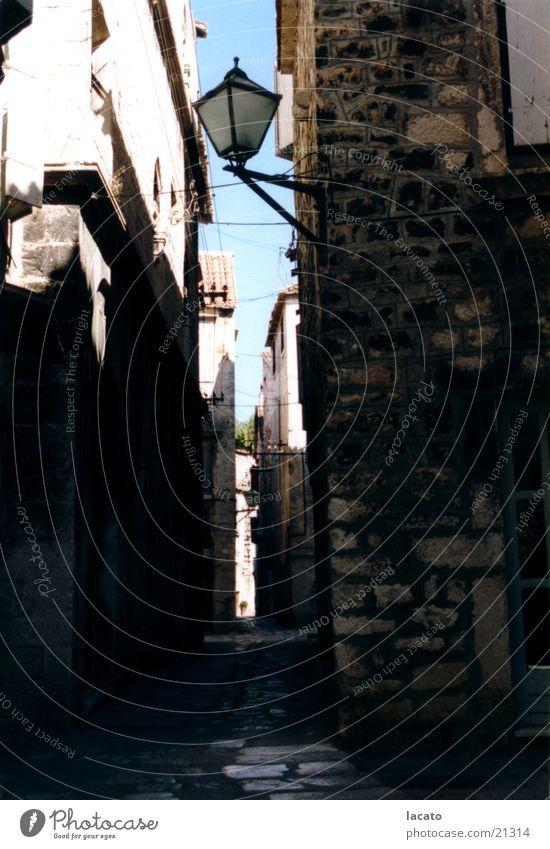 the dark alleyway Alley Building Croatia Lantern Moody Architecture