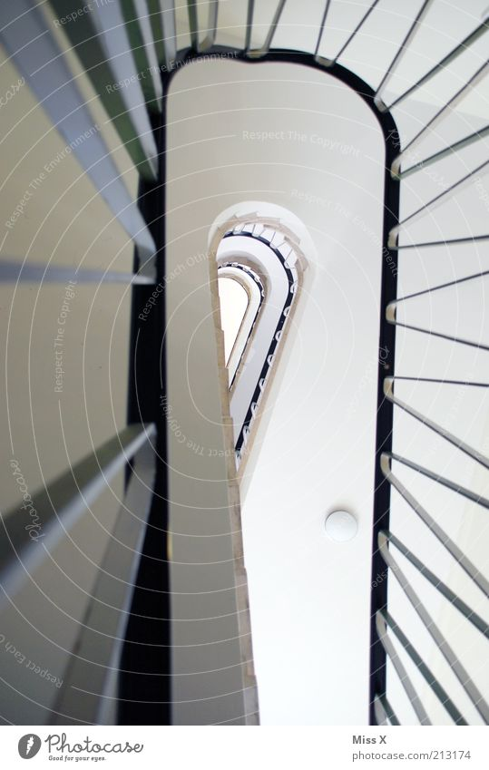 upstairs Flat (apartment) House (Residential Structure) Stairs Tall Pure Staircase (Hallway) Banister Colour photo Interior shot Deserted Worm's-eye view
