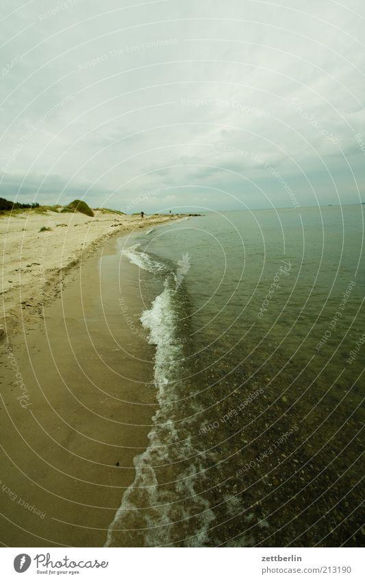 Nature Ocean Beach Vacation & Travel Calm Far-off places Dark Sand Coast Waves Environment Horizon Tourism Longing Baltic Sea Rügen