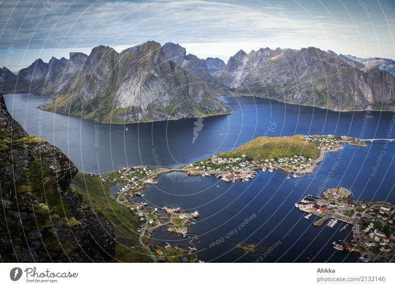 Reine, Lofoten, Scandinavia Vacation & Travel Trip Adventure Far-off places Landscape Elements Rock Peak Fjord Ocean Island Fishing village Exotic Fantastic