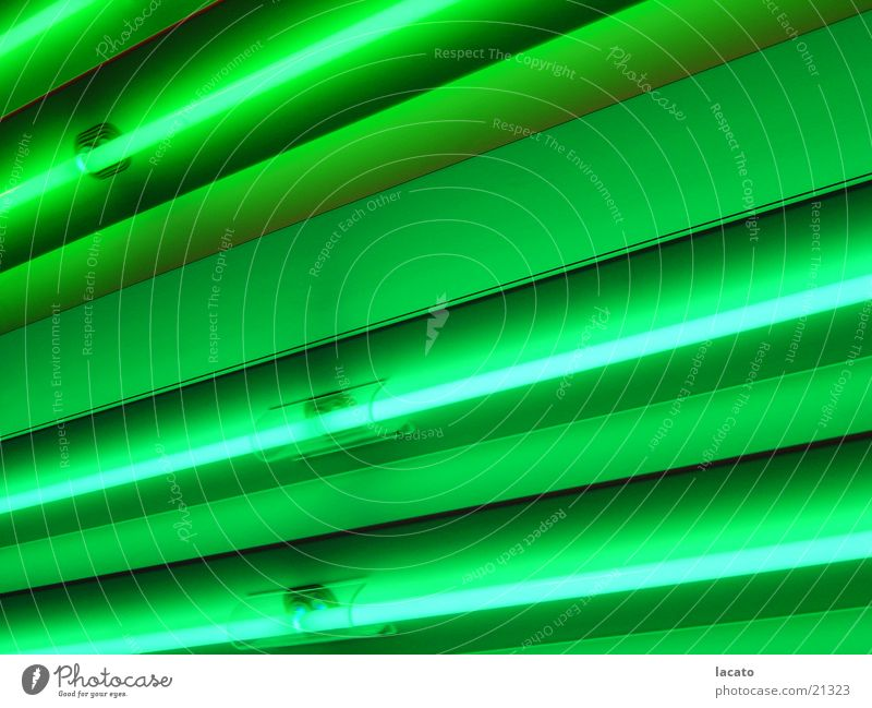 its green Lamp Light Green Neon light Wall (building) Background picture Radiation Things Light (Natural Phenomenon) Iron-pipe