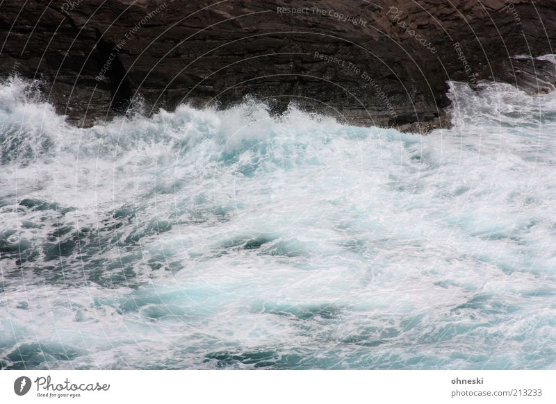 Moving Sea II Nature Elements Water Rock Waves Coast Bay Ocean Pacific Ocean Wild Power Life Energy Colour photo Exterior shot Deserted White crest Surf Swell