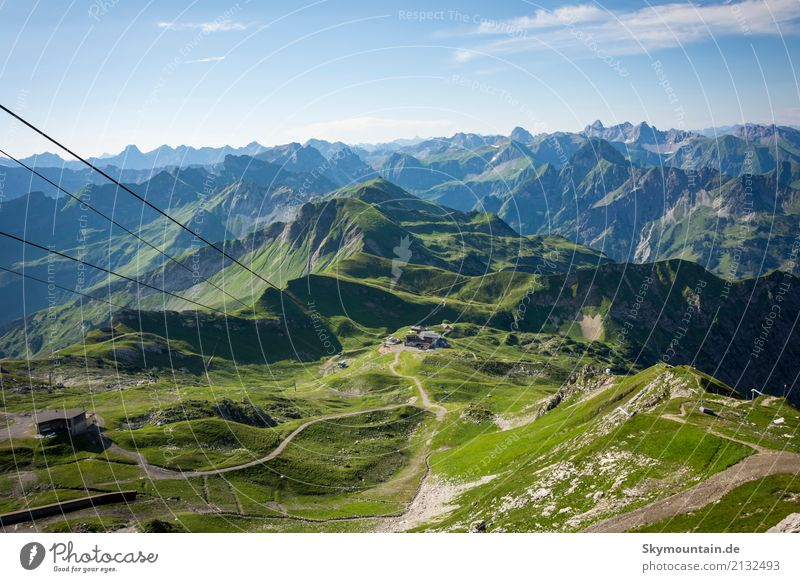 View from the Nebelhorn into the Allgäu Alps Joy Happy Healthy Well-being Contentment Relaxation Meditation Leisure and hobbies Vacation & Travel Tourism Trip
