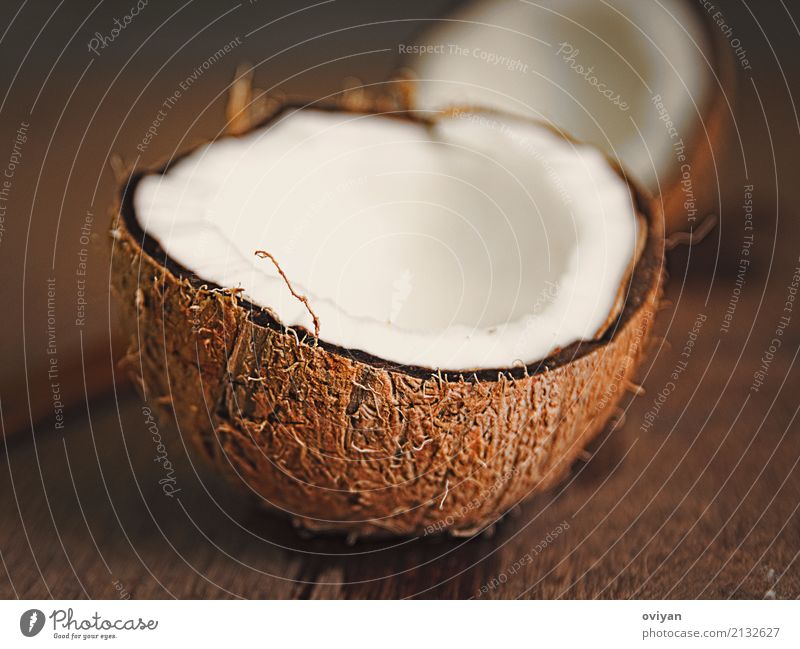Coconuts Food Meat Fruit Cooking oil Nutrition Eating Organic produce Asian Food Fresh Wet Natural Round Clean Sweet Brown Raw Ingredients Shell-shaped