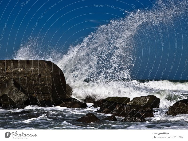 FUSH! Water Waves Beach Reef North Sea Ocean Surf White crest Break water Wall (barrier) Wall (building) Jetty Dugout Stone Dike Wild Power Might Determination